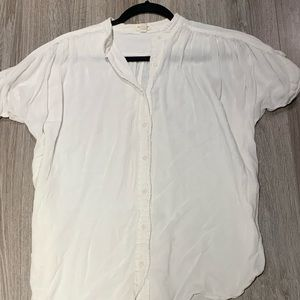flowy white button up blouse from urban outfitters